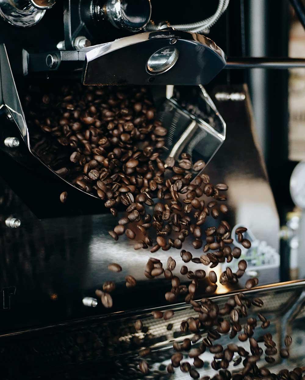 Granos de Cafés las Antillas Campos Cayendo